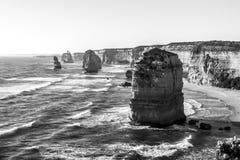 Doze rochas do mar dos ap?stolos perto da grande estrada do oceano, Campbell National Park portu?rio, Austr?lia foto de stock