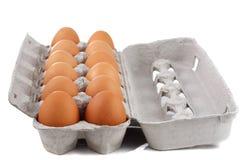 Dozen brown eggs Royalty Free Stock Photo