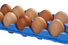 A dozen chicken eggs. Royalty Free Stock Image