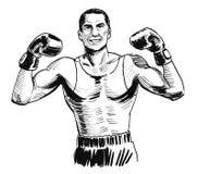 In dozen doende kampioen royalty-vrije illustratie