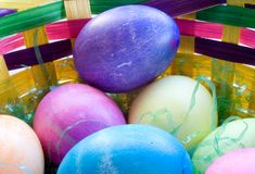 A Dozen Easter Eggs Stock Photo