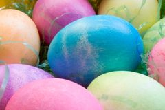A Dozen Easter Eggs Stock Image