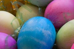 A Dozen Easter Eggs Stock Photography