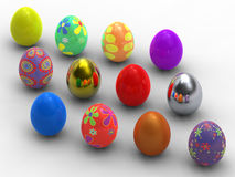Dozen  Easter eggs Royalty Free Stock Images