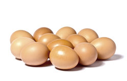 A dozen eggs Royalty Free Stock Images