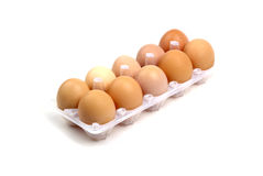 Dozen of eggs. Royalty Free Stock Photo