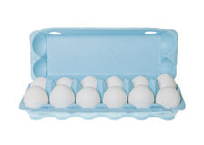 A dozen eggs Royalty Free Stock Photos