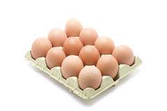 Dozen eggs box Royalty Free Stock Photos