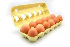 Dozen eggs Royalty Free Stock Photography