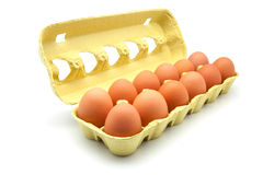 Dozen eggs Royalty Free Stock Photos