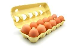 Dozen eggs royalty free stock photos