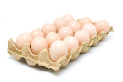 Dozen eggs (clipping path) royalty free stock images