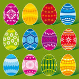 Dozen eggs. The set of Easter Eggs vector illustration