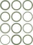 Dozen of elegant round frames Royalty Free Stock Image