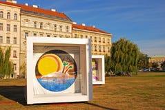 Dozen het artistieke schilderen in Mala Strana, Praag, Tsjechische Republiek Stock Afbeeldingen