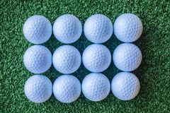 Dozen Golf Balls Royalty Free Stock Photography