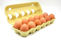 Dozen Of Eggs Stock Photography