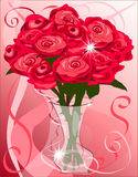 A dozen red roses Royalty Free Stock Images