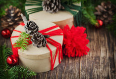 Dozen van de Kerstmis de uitstekende gift stock afbeelding