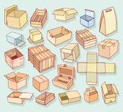 dozeninzameling, geplaatste krabbels Vector illustratie Stock Foto's