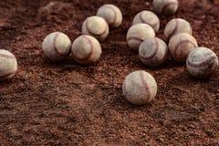 Dozens of baseballs Stock Image
