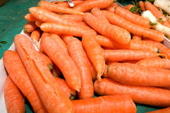 Dozens of carrot randomly piled up. Novi Sad, Serbia Stock Photos