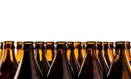 Dozens of empty, brown German beer bottles Stock Image