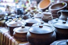 Dozens grote kleipotten in Jango in Gyeongbokgung-Paleis stock afbeeldingen
