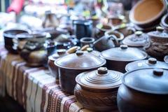 Dozens of large clay pots at Jango in Gyeongbokgung Palace. Royalty Free Stock Images