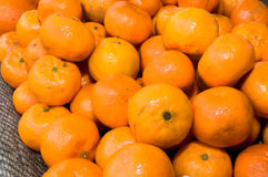 Dozens of oranges piled up in a heap. Novi Sad, Serbia Stock Photo