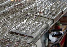Silver Jewelry at a Shop in Peru. Dozens of silver jewelry items for sale at a store in Pisac, Peru stock photography