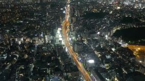 Timelapse, Dozens of Thousands of Lights in the Night City and the Highway stock video footage