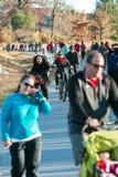 Dozens Walk And Bike In Urban Greenspace Along Atlanta Beltline Stock Photography
