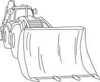 Dozer. Vector - excavator - dozer tractor isolated on background Royalty Free Stock Image
