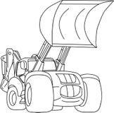 Dozer. Vector - excavator - dozer tractor isolated on background Royalty Free Stock Photography
