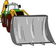 Dozer. Vector - excavator - dozer tractor isolated on background Stock Photography