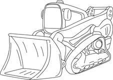 Dozer. Vector - excavator - dozer  isolated on background Royalty Free Stock Photography