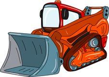 Dozer. Vector - excavator - small dozer  isolated on background Royalty Free Stock Image