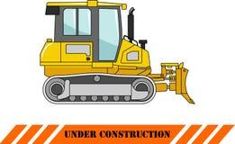 Dozer. Heavy construction machine. Vector Stock Photography