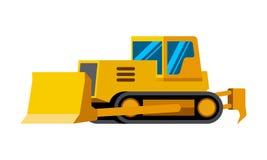 Dozer minimalistic icon. Isolated. Construction equipment isolated vector. Heavy equipment vehicle. Color icon illustration on white background Royalty Free Stock Image