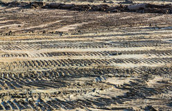 Dozer traces. In industry construction royalty free stock images