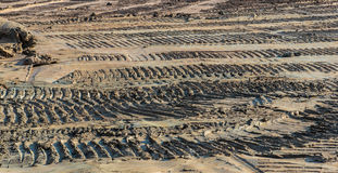 Dozer traces. Movement in Industrial Construction stock images