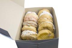 Dozijn donutsdoos royalty-vrije stock fotografie