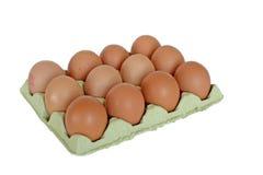 Dozijn eieren royalty-vrije stock afbeeldingen