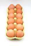 Dozijn kippeneieren stock afbeelding