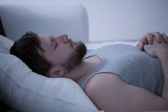 Dozing man Stock Photos