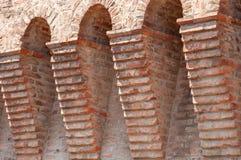 Dozza Italia: Dettaglio antico della porta del castello immagine stock libera da diritti