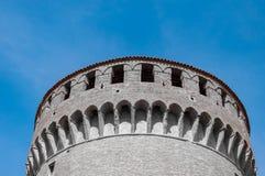 Dozza Italien: Detail des alten Dorfs Stadt in der Emilia Romagna-Region ber?hmt f?r seine Wandgem?lde und das Schloss lizenzfreie stockbilder