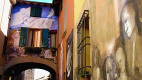 Dozza la ciudad pintada - Bolonia - Emilia Romagna - Italia almacen de metraje de vídeo