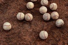 Dozzine di baseball immagini stock